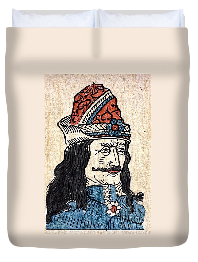 15th Century Duvet Cover featuring the photograph Vlad IIi (1431-1477) by Granger