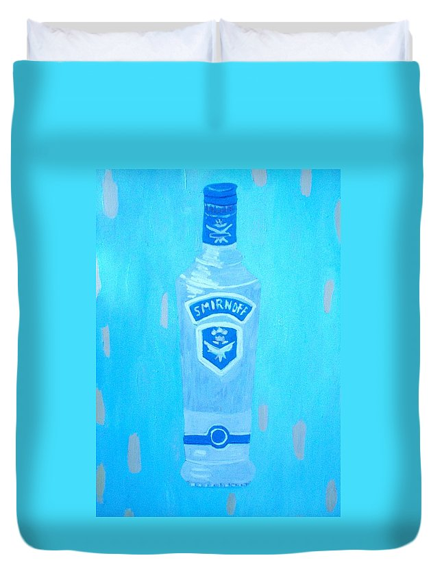 Pop Art Duvet Cover featuring the painting Vodka by Patrice Tullai