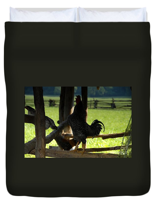 Farm Duvet Cover featuring the photograph Voice Of The Farm by David Lee Thompson