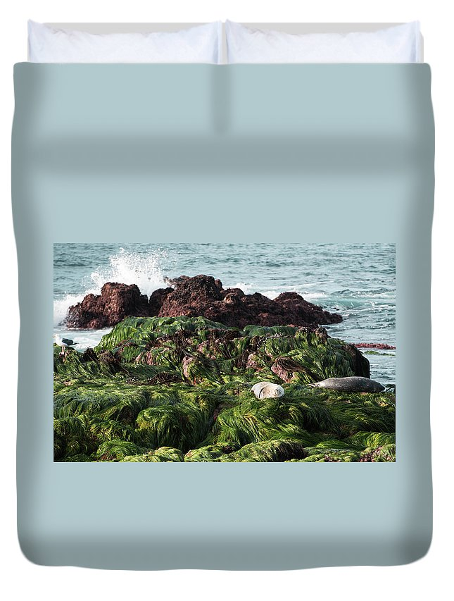 Voice Of The Sea Duvet Cover featuring the photograph Voice Of The Sea by Tran Boelsterli