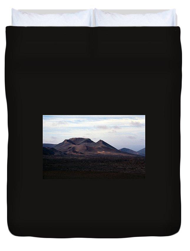 Lehtokukka Duvet Cover featuring the photograph Volcano 1 by Jouko Lehto