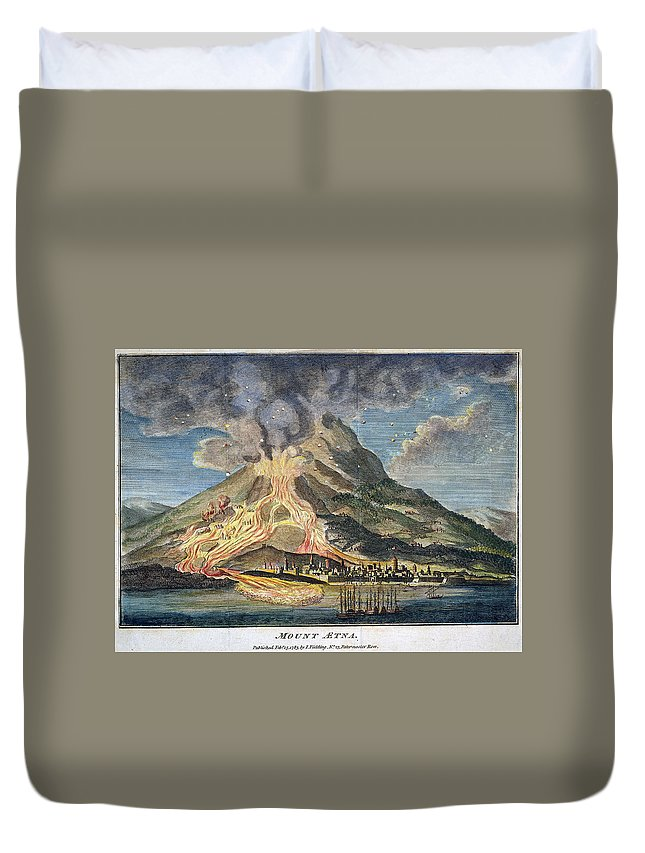 1783 Duvet Cover featuring the photograph Volcano: Mt. Etna by Granger