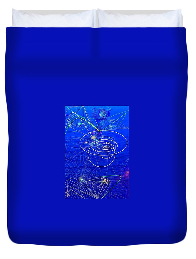 Abstract Duvet Cover featuring the digital art Voyage by Ian MacDonald