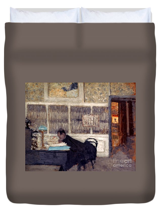 1901 Duvet Cover featuring the photograph Vuillard: Revue, 1901 by Granger