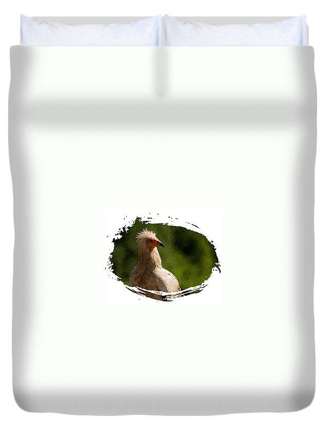 Vultures Duvet Cover featuring the photograph Vulture by Cliff Norton