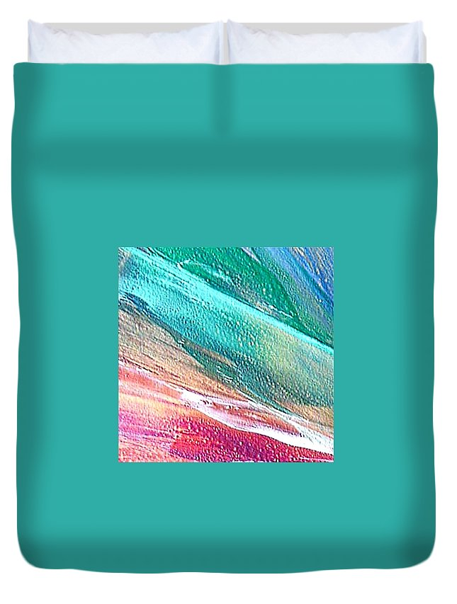 Encaustic Painting Duvet Cover featuring the painting W 005 by Dragica Micki Fortuna