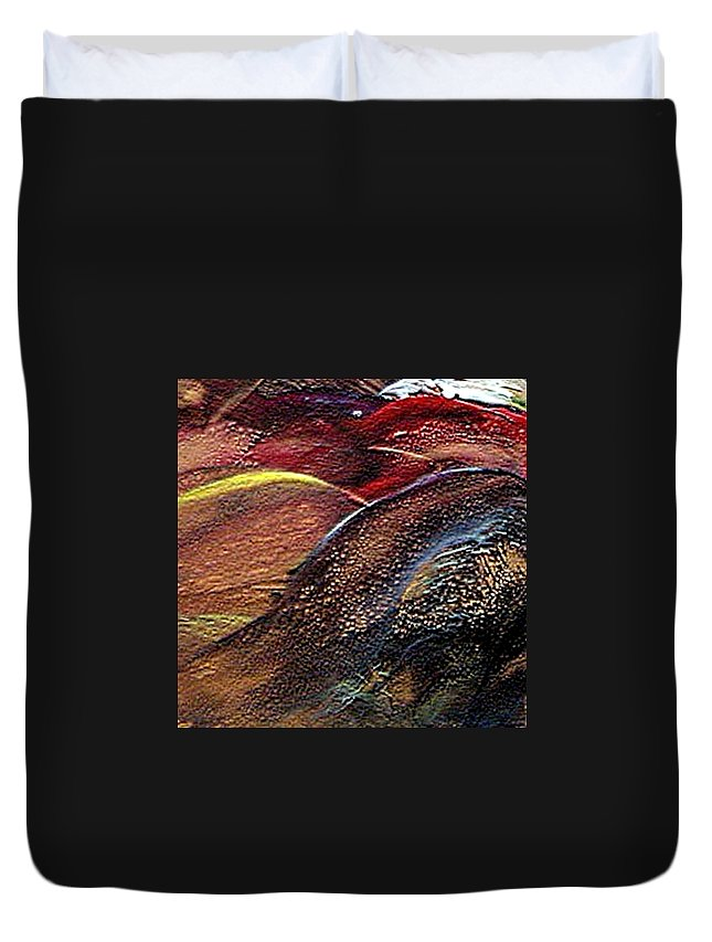 Hills Duvet Cover featuring the painting W 010- Hills by Dragica Micki Fortuna