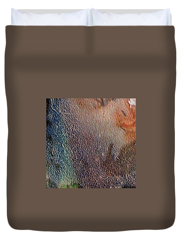 Abstract Landscape Duvet Cover featuring the painting W 012 - No One's Land by Dragica Micki Fortuna