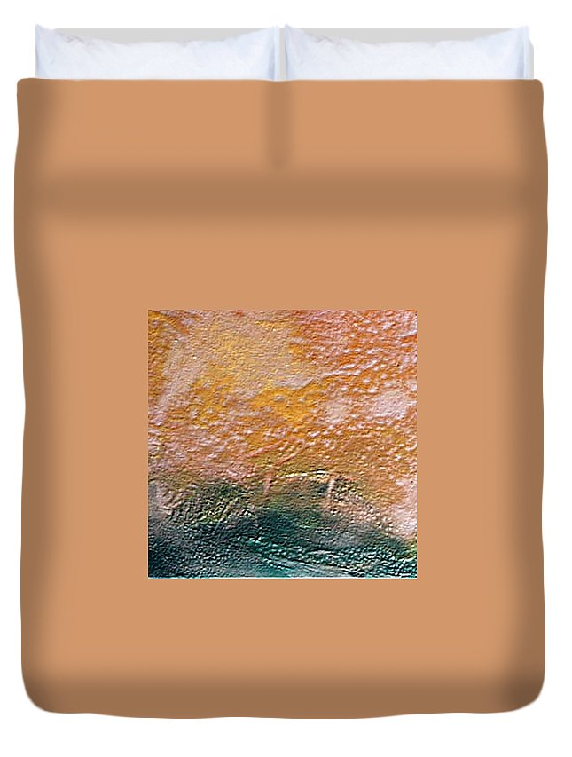 Encaustic Painting Duvet Cover featuring the painting W 013 by Dragica Micki Fortuna
