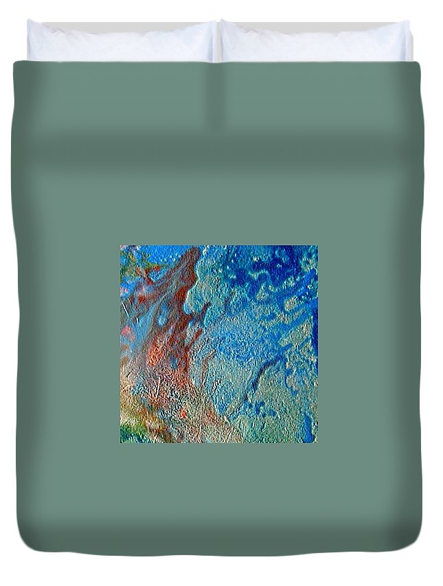 Protozoe Duvet Cover featuring the painting W 016 - Protozoe by Dragica Micki Fortuna