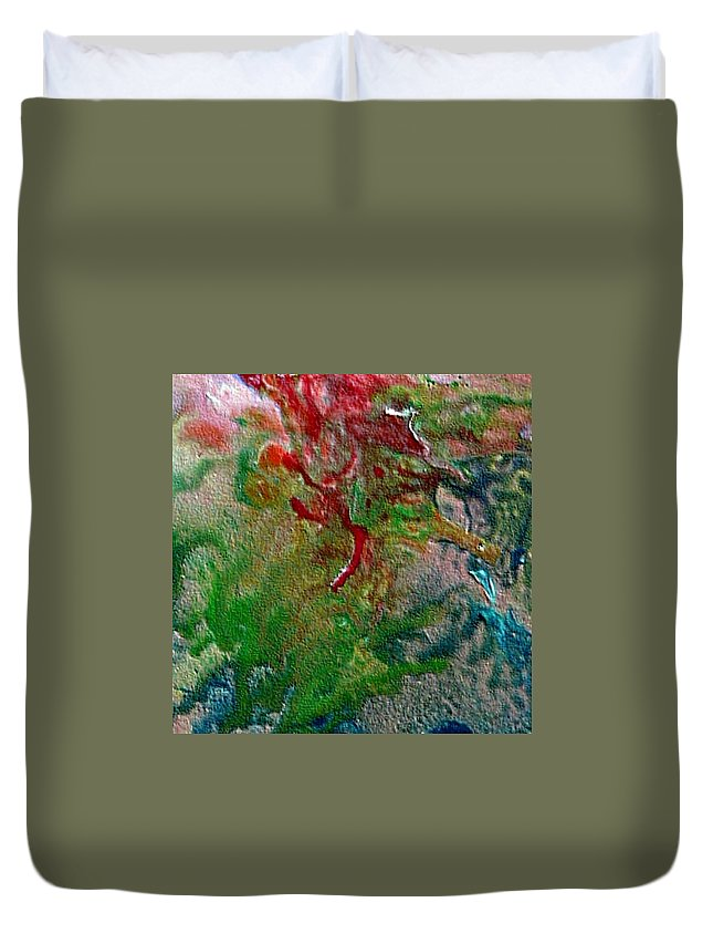 Abstract Duvet Cover featuring the painting W 024 by Dragica Micki Fortuna