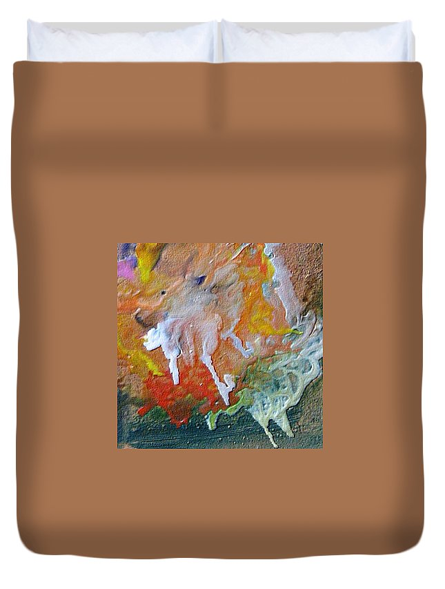Abstract Duvet Cover featuring the painting W 025 by Dragica Micki Fortuna