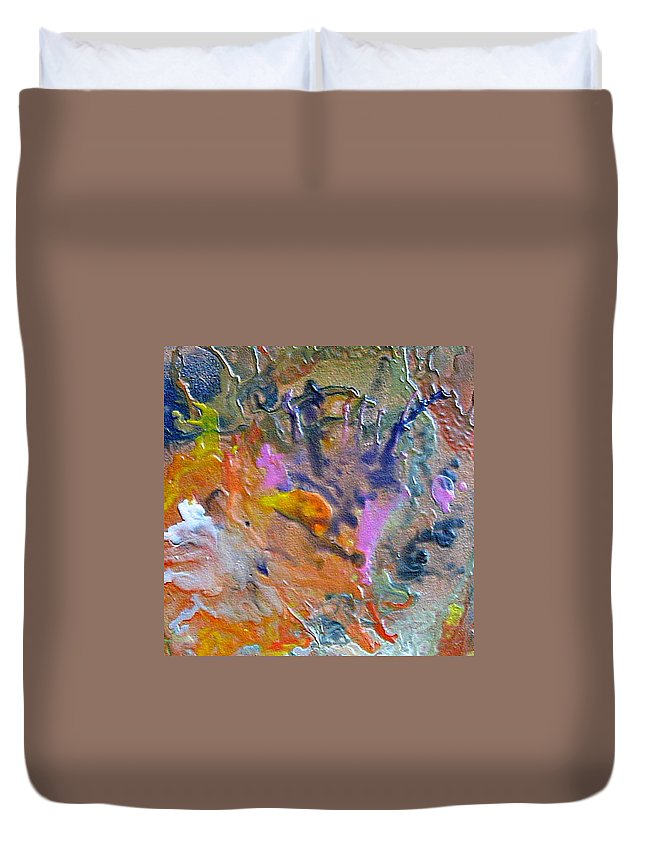 Abstract Duvet Cover featuring the painting W 027 by Dragica Micki Fortuna