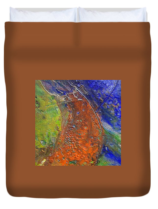 Abstract Duvet Cover featuring the painting W 028 by Dragica Micki Fortuna