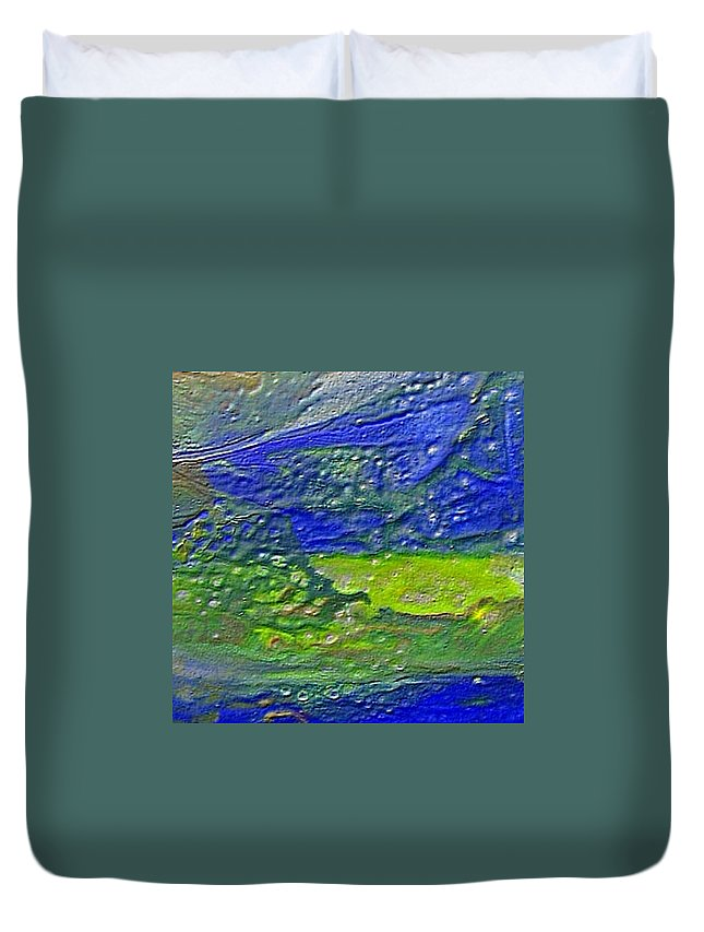 Encaustic Painting Duvet Cover featuring the painting W 029 by Dragica Micki Fortuna