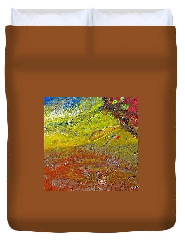 Encaustic Painting Duvet Cover featuring the painting W 030 by Dragica Micki Fortuna