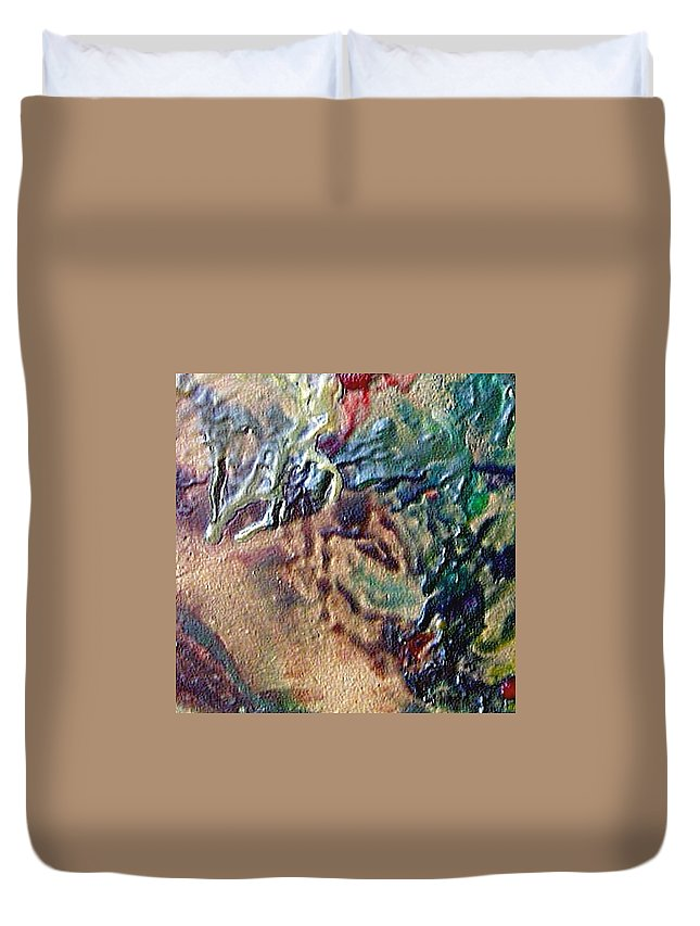 Abstract Duvet Cover featuring the painting W 031 by Dragica Micki Fortuna