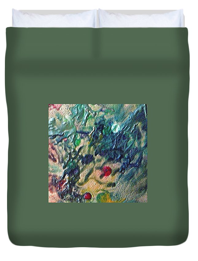 Abstract Duvet Cover featuring the painting W 032 by Dragica Micki Fortuna