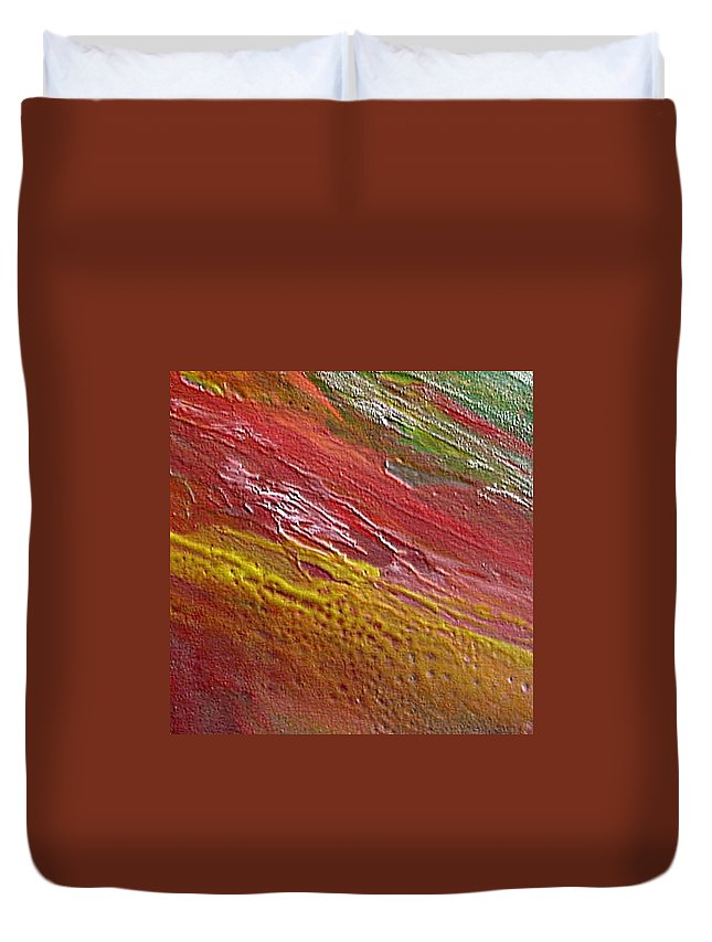 Encaustic Painting Duvet Cover featuring the painting W 036 by Dragica Micki Fortuna