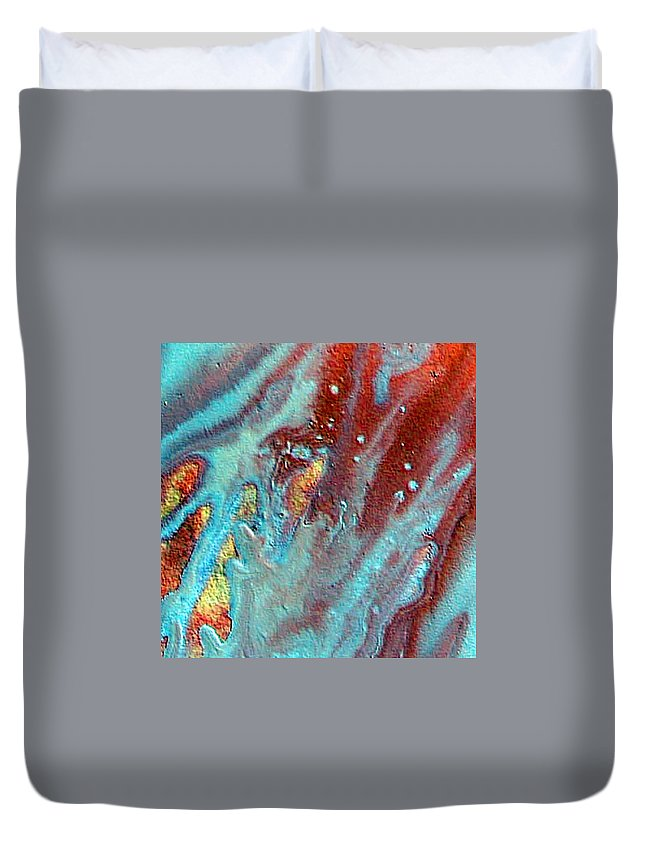 Melting Point Duvet Cover featuring the painting W 039 by Dragica Micki Fortuna