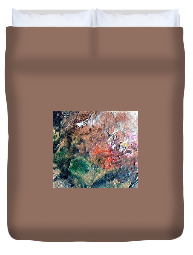 Tide Duvet Cover featuring the painting W 042 by Dragica Micki Fortuna