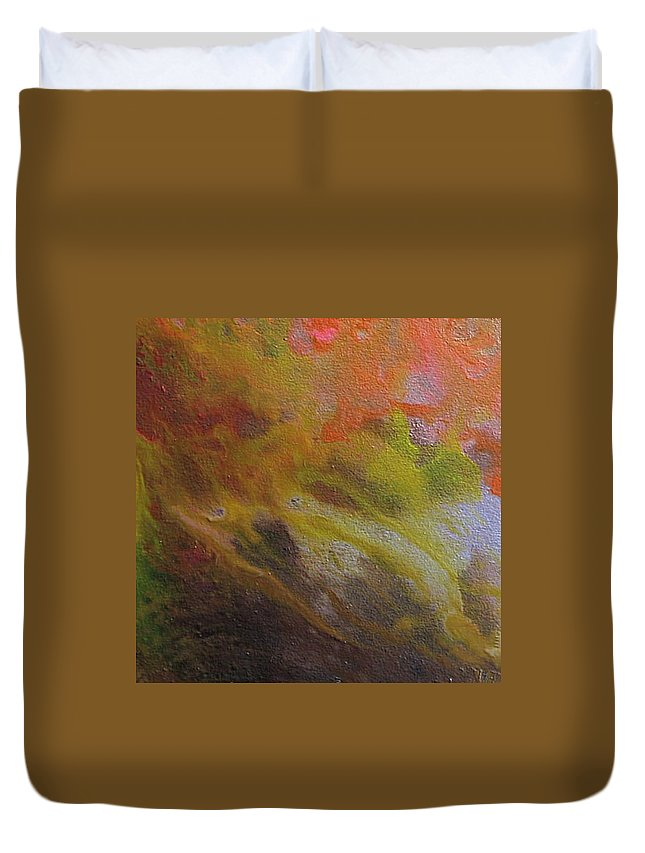 Abstract Duvet Cover featuring the painting W 051 by Dragica Micki Fortuna
