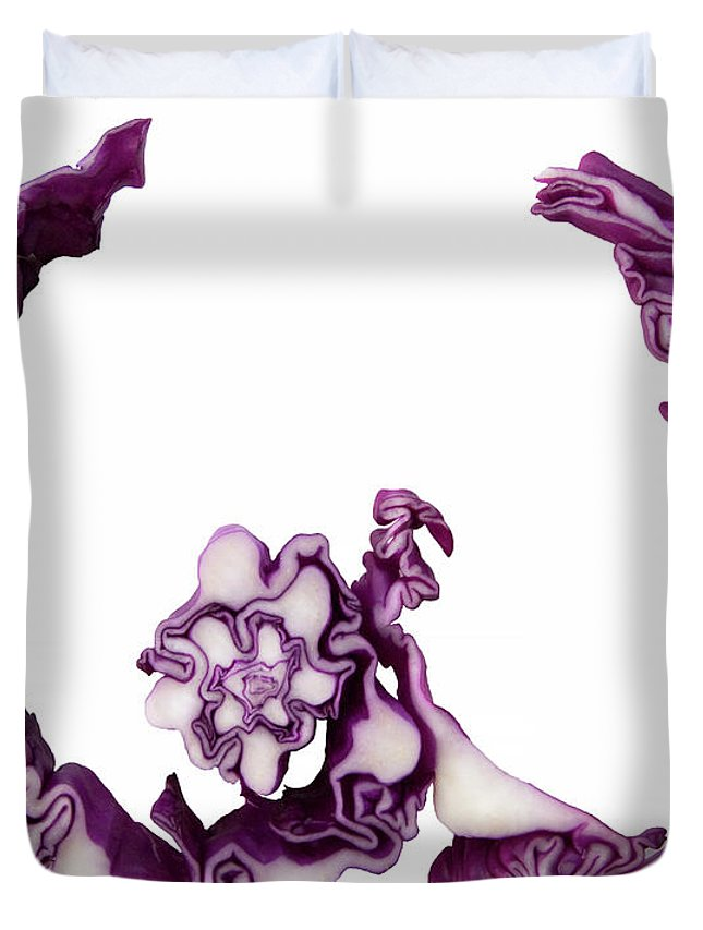 W Duvet Cover featuring the photograph W-2 by Frederica Georgia