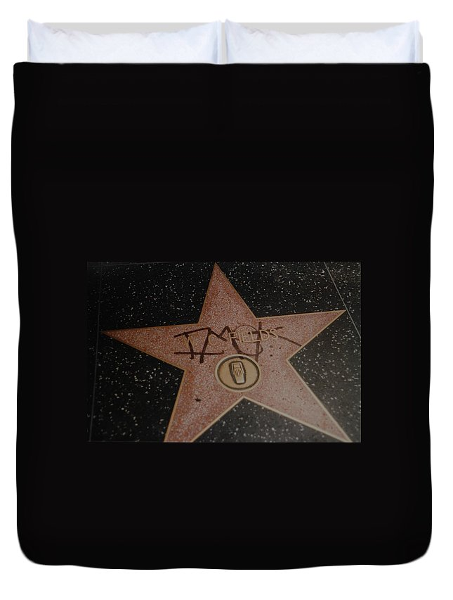 Hollywood Duvet Cover featuring the photograph W C Fields Star by Rob Hans