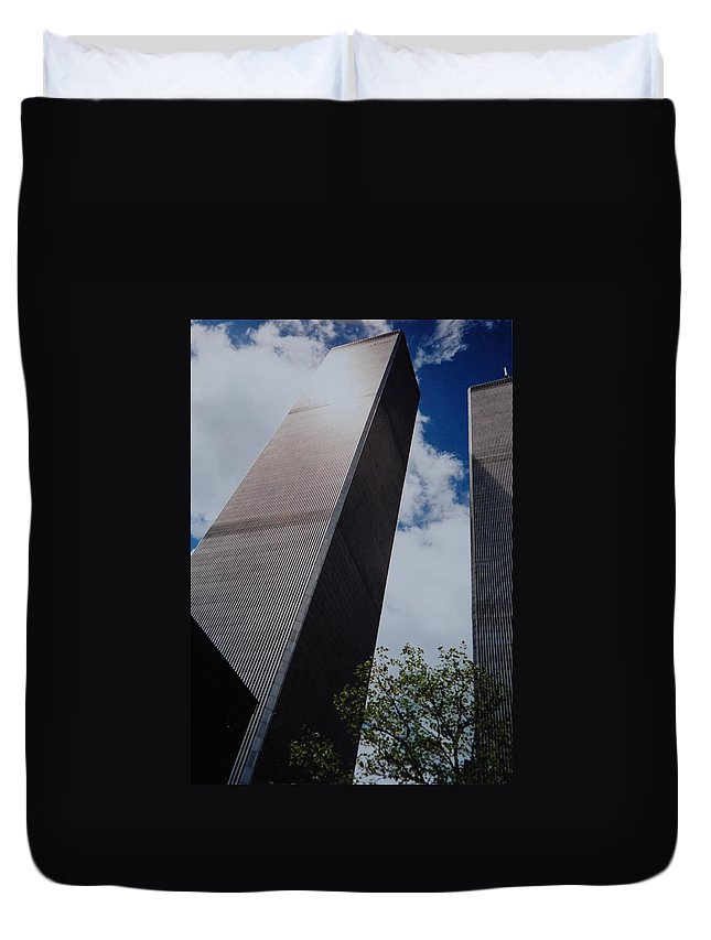Wtc Duvet Cover featuring the photograph W T C 1 And 2 by Rob Hans