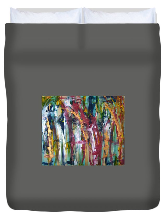 Abstract Artwork Duvet Cover featuring the painting W34 - Luvu by Kunst mit Herz Art with Heart