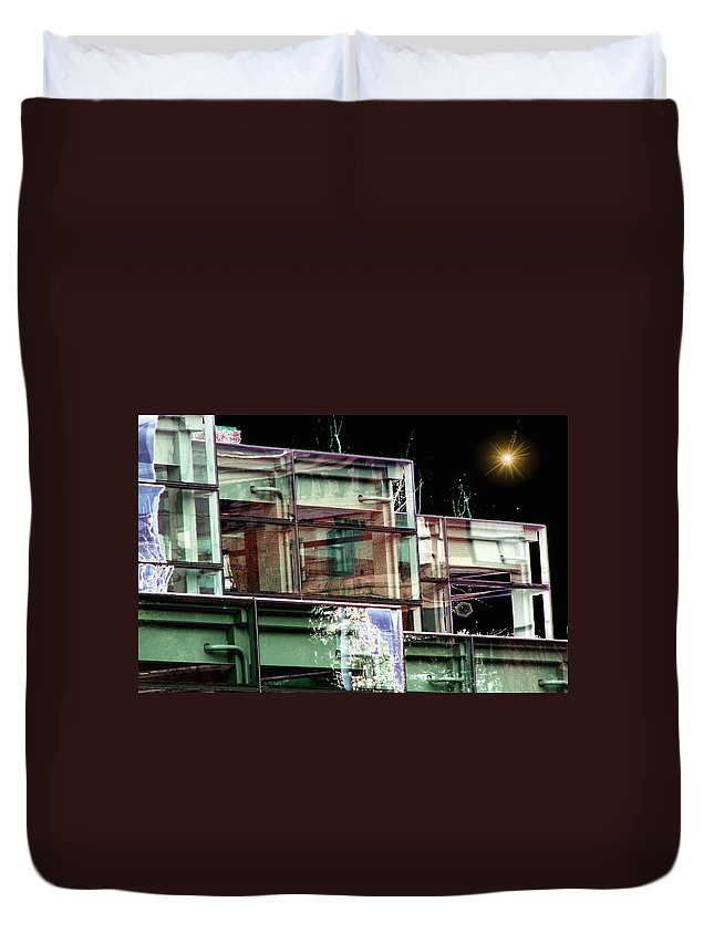 Seattle Duvet Cover featuring the digital art Wa State Convention And Trade Center by Tim Allen