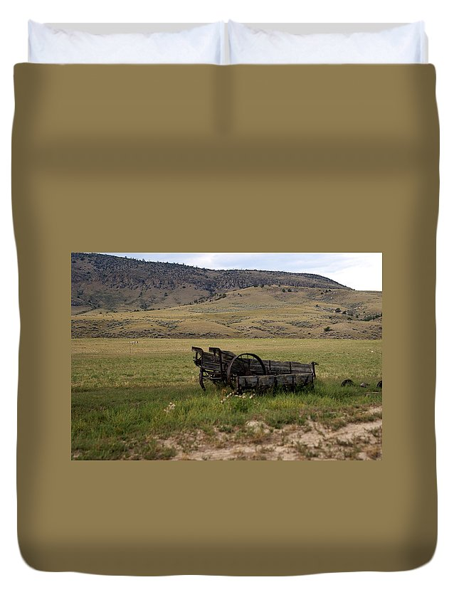 Ranch Duvet Cover featuring the photograph Wagon Ho by Marty Koch