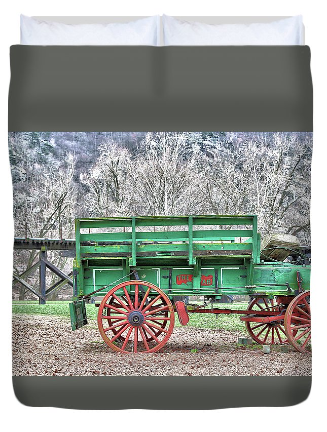 Wagon Duvet Cover featuring the photograph Wagon by Mitch Cat