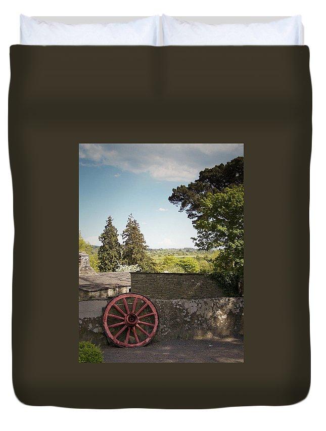 Irish Duvet Cover featuring the photograph Wagon Wheel County Clare Ireland by Teresa Mucha
