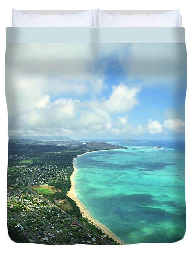 Waimanalo Duvet Cover featuring the photograph Waimanalo Bay by Kevin Smith