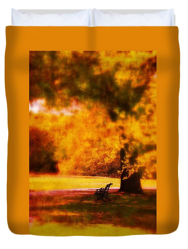 Fine Art Duvet Cover featuring the photograph Waiting For Ever by Susanne Van Hulst