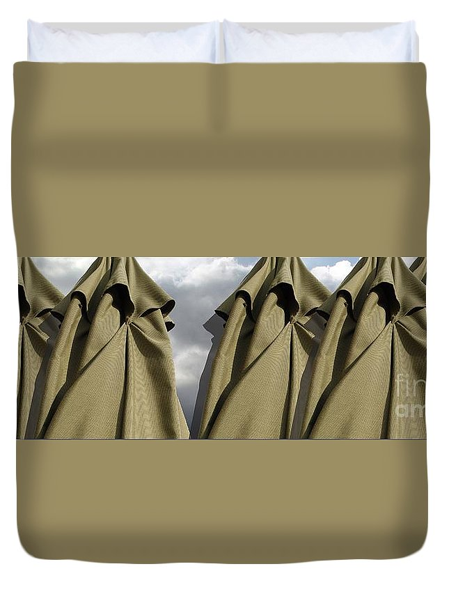 Digital Image Duvet Cover featuring the digital art Waiting For The Storm by Ron Bissett