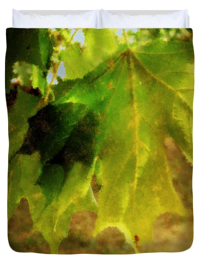 Autumn Duvet Cover featuring the painting Waiting For Winter by RC DeWinter