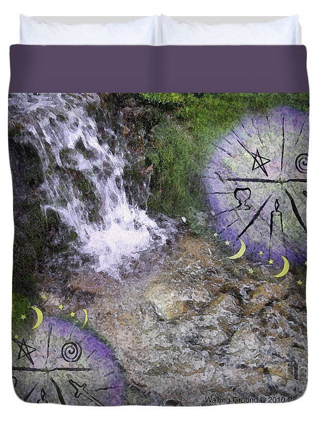 Fantasy Duvet Cover featuring the digital art Waiting Ground by Cyndy DiBeneDitto