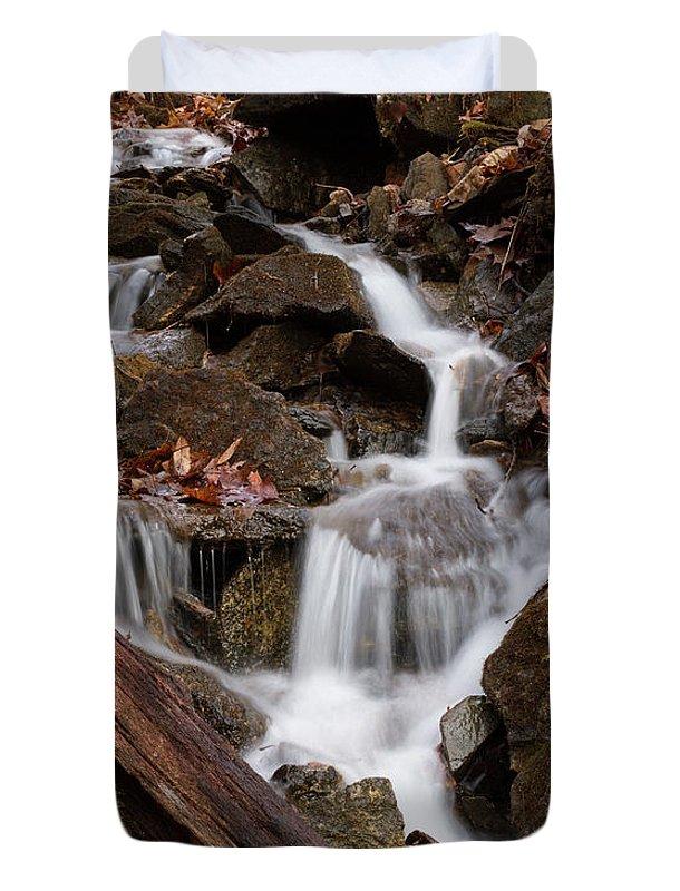 Cascade Duvet Cover featuring the photograph Walden Creek Cascade by Paul Rebmann