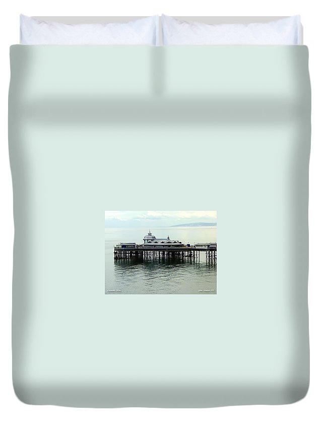 Boardwalk Duvet Cover featuring the photograph Wales Boardwalk by Joan Minchak