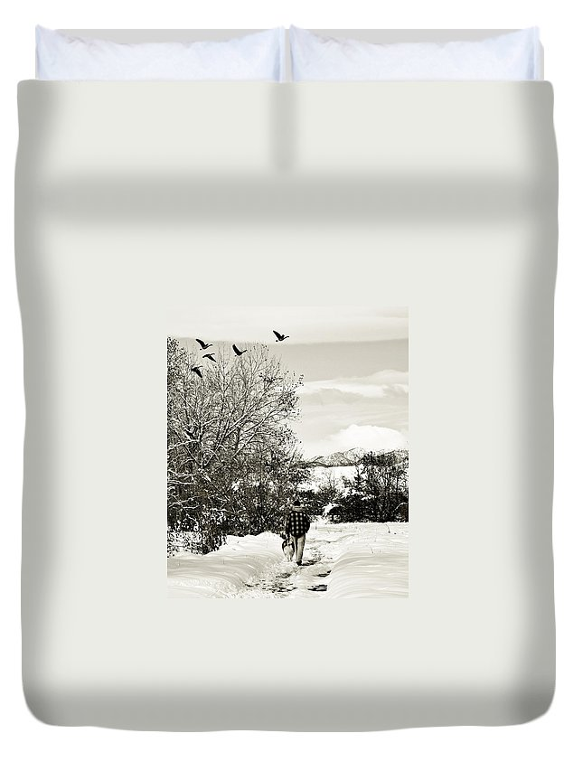 Colorado Duvet Cover featuring the photograph Walk In The Park by Marilyn Hunt