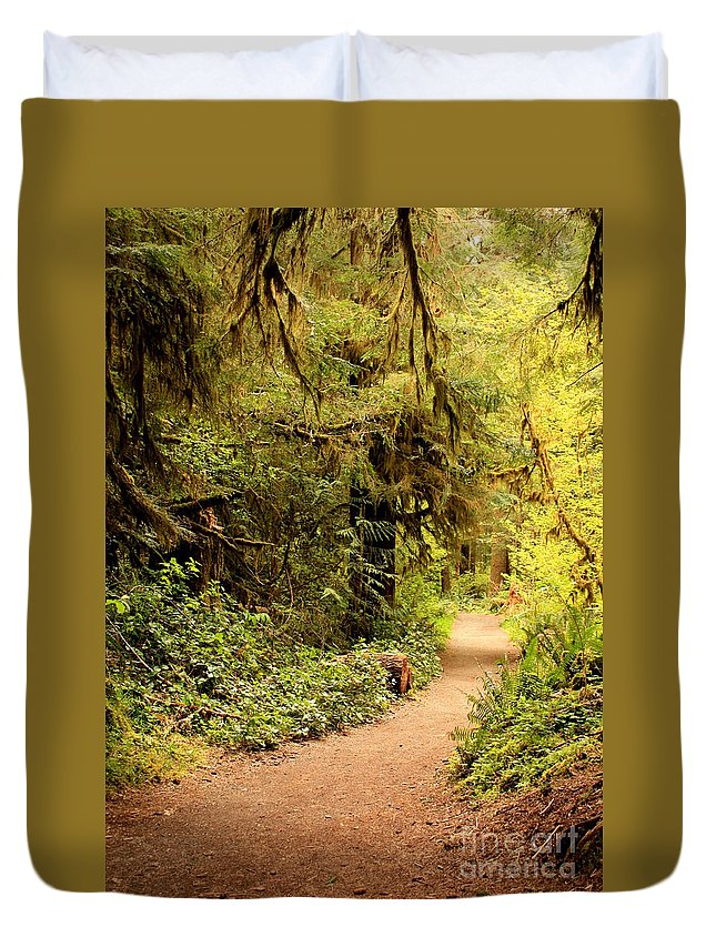 Forest Duvet Cover featuring the photograph Walk Into The Forest by Carol Groenen