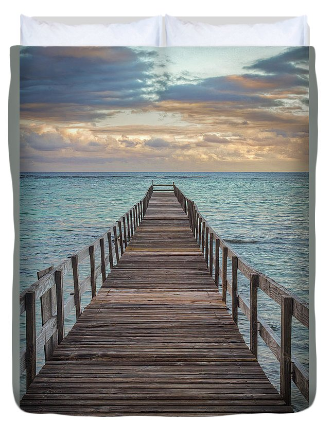 Walk On The Water Duvet Cover featuring the photograph Walk On The Water by Mitch Shindelbower