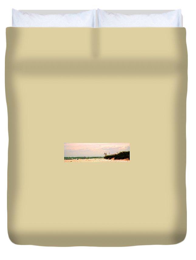 Florida Duvet Cover featuring the photograph Walk The Beach by Ian MacDonald