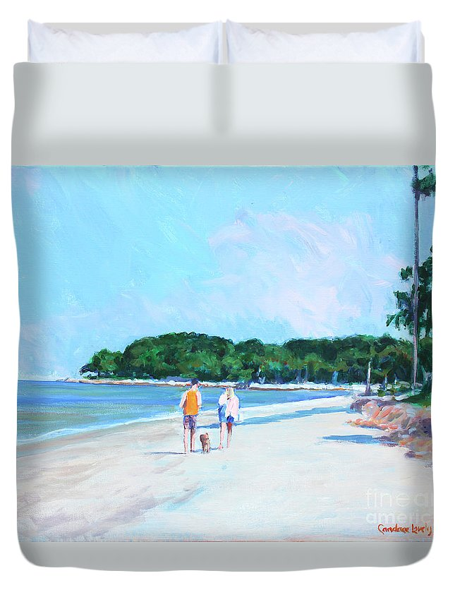 Couple Duvet Cover featuring the painting Walking Down The Isle by Candace Lovely