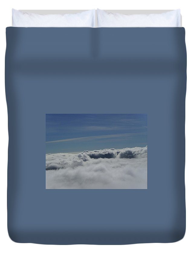 Clouds Duvet Cover featuring the photograph Walking The Clouds by Jeff Swan
