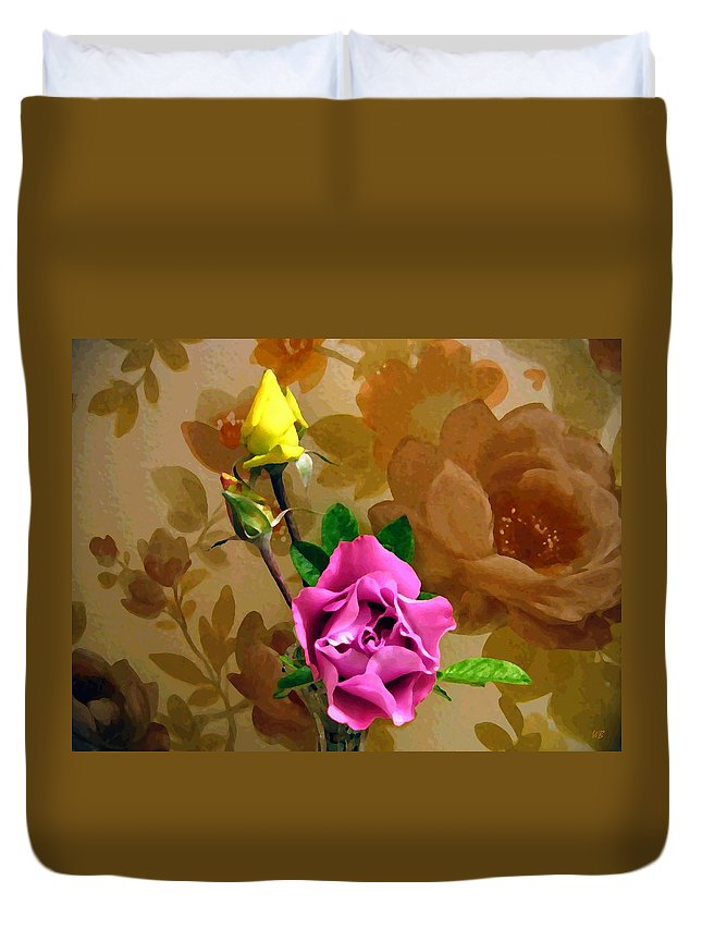 Roses Duvet Cover featuring the photograph Wall Flowers by Will Borden