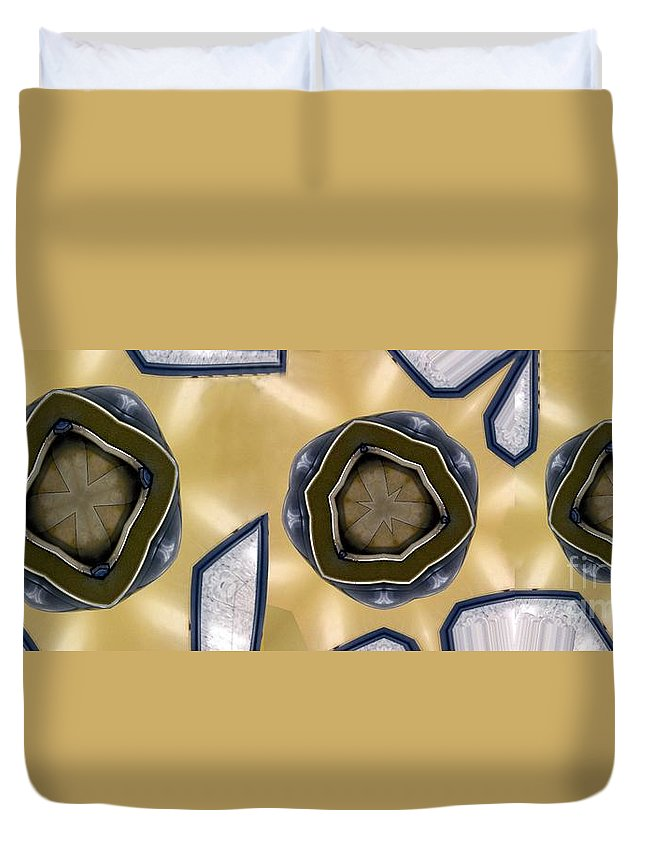 Abstract Duvet Cover featuring the digital art Wall Piece by Ron Bissett