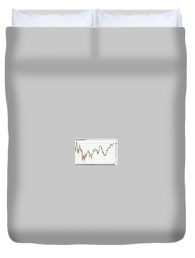 Stock Trader Duvet Cover featuring the painting Wall Street Daily Chart 08/08/2018 Close by Hood aka Ludzska